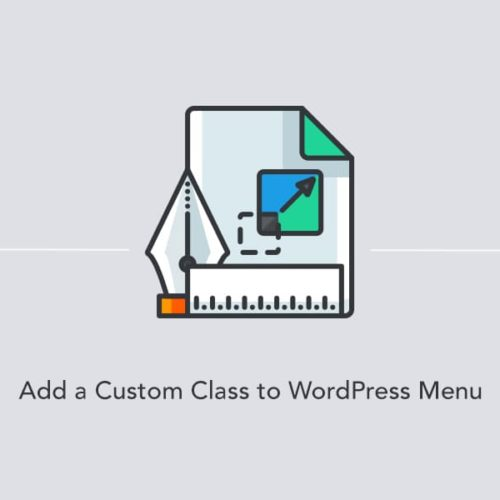 Adding a custom class to a WordPress menu link