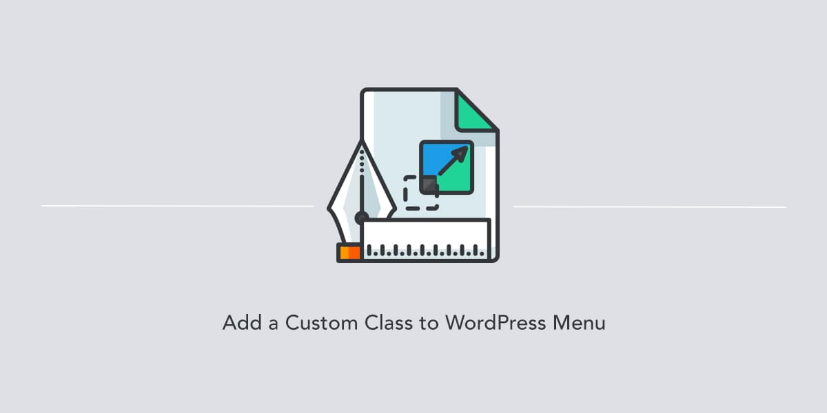 Adding a custom class to WordPress menu