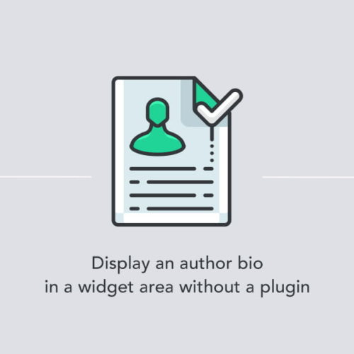 Displaying an author bio in a widget area without a WordPress plugin