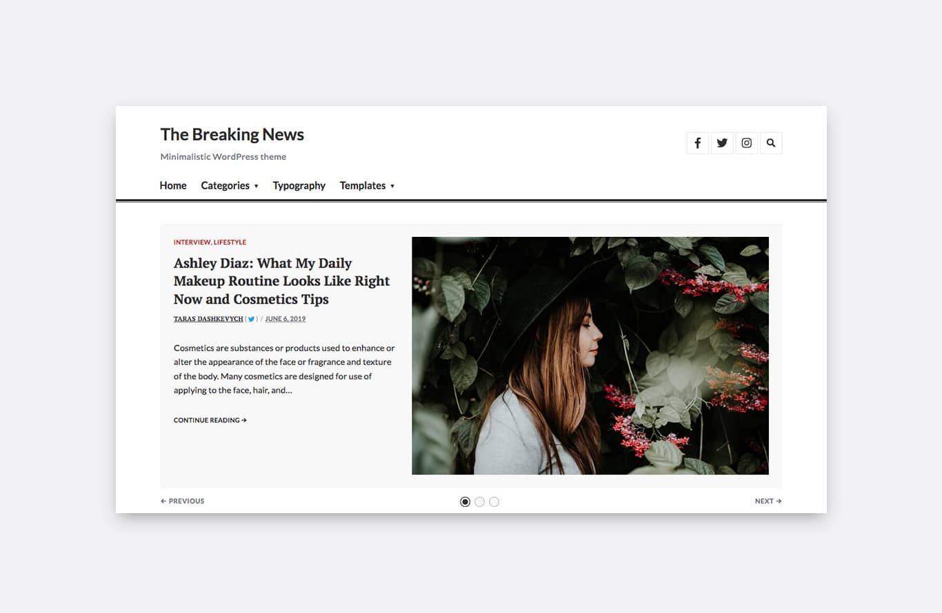 Featured Content section