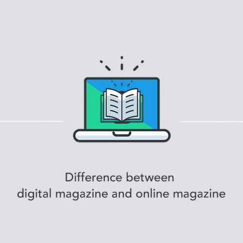 Difference between digital magazines and online magazines