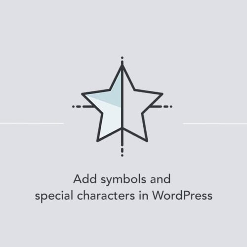 Adding symbols and special characters in WordPress