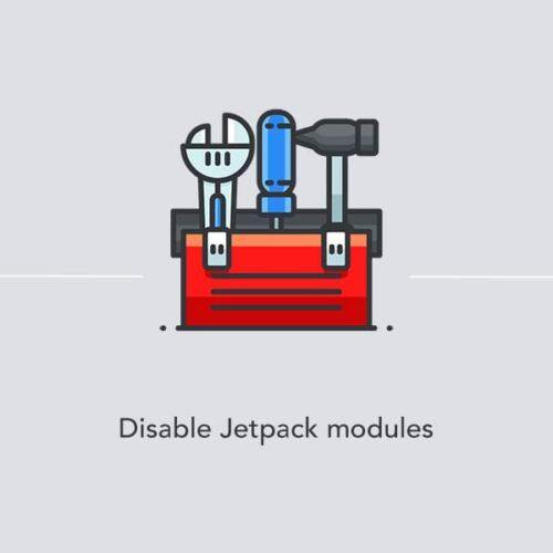Disabling modules in Jetpack
